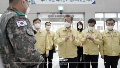 S.Korea reports 34 more COVID-19 cases, 14,423 in total