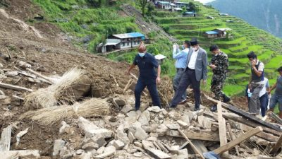 38 people go missing, eight injured and 18 houses buried…