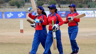 Three women cricketers with visual impairment honoured
