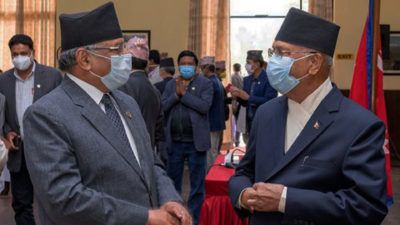 Ruling NCP co chairs Oli, Dahal meet after 11 days…