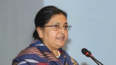 Festivals help consolidate national unity: President Bhandari