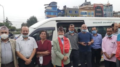 Electric minibus launched on long route