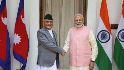 PM Oli tweets Birthday wish to Indian counterpart Modi