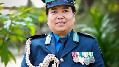 Female officer placed in charge of armed force after 50…