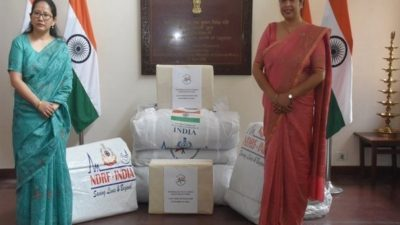 India provides disaster relief support materials to landslide victims