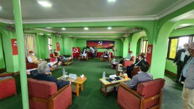 Main governing NCP secretariat meeting discusses Dr KC hunger strike,…