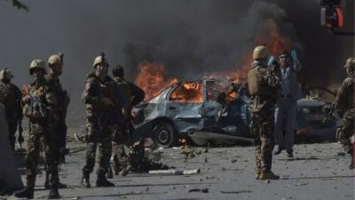 At least 30 police killed,over 20 wounded in suicide car…