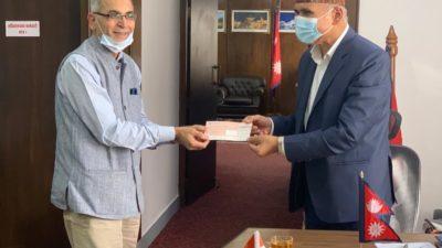 Indian ambassador Kwatra meets Finance Minister Paudel