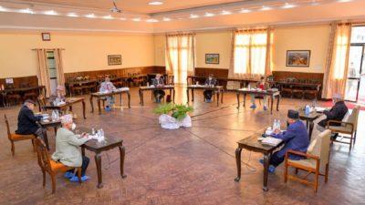 Prachanda presents political report in secretariat meeting held amid intra-party…