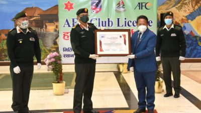 Army club obtains AFC cup club licence