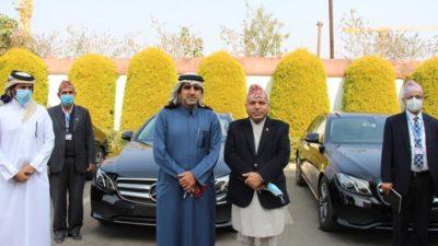Qatar gifts three Mercedez cars to Nepal