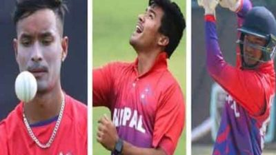 Three national cricket players selected to play upcoming T10 cricket…