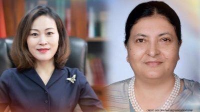 Chinese Ambassador Yanqi meets President Bhandari amid deepening political crisis