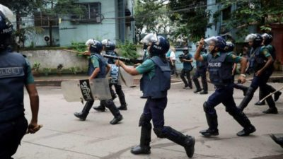 Bangladesh police fire rubber bullets, tear gas at new opposition…