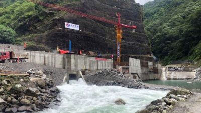 Works ongoing to construct access road to the intake of…