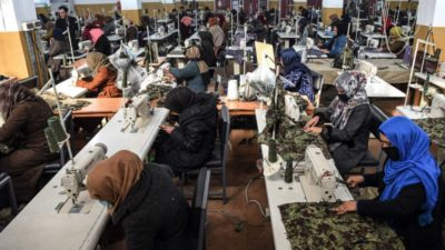 Afghan sewing factory offers lifeline to war widows