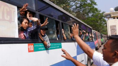Myanmar frees more than 600 detained in coup protests: prison…