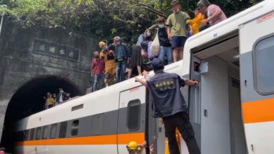 Dozens feared dead as Taiwan train derails in tunnel
