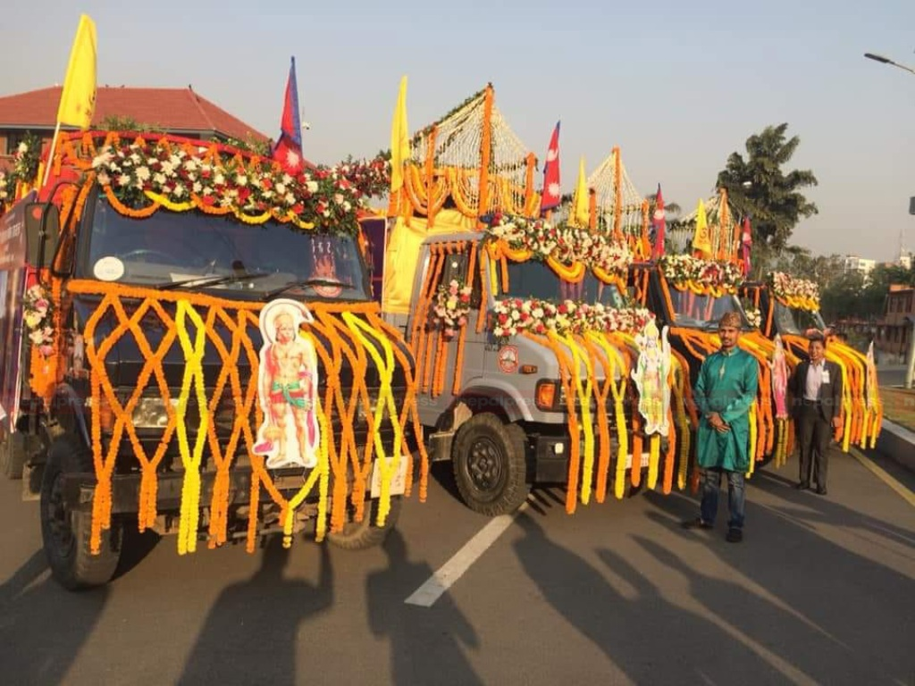 Chariot procession with Ram-Sita statue proceeded for Ayodhya