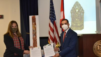 US government hands over lost antiquities to Nepal