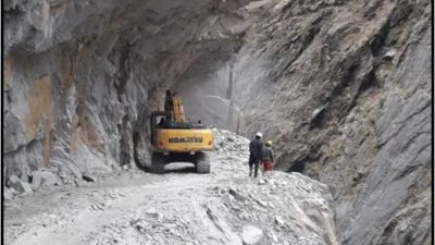 Nepal's road disrupted with explosives used in Mansarobar road construction