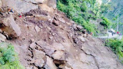 Landslide blocks Karnali Highway