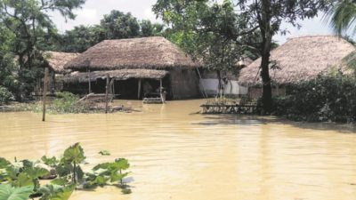 Many villages in Lumbini Province flooded, dozens at risk