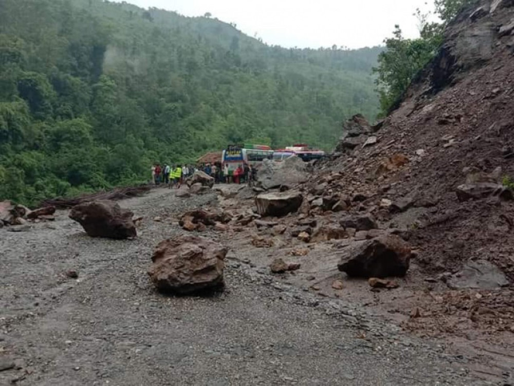 Karnali highway continues to remain obstructed