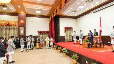 New Ministers take oath