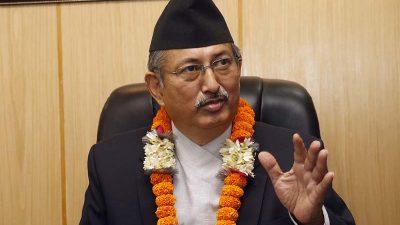 Home Minister Khand congratulates Gandaki new chief Gurung