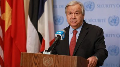 UN chief calls on Taliban to halt offensive against gov't…