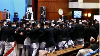HoR continues amidst protest from UML