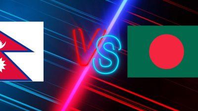 Nepal, Bangladesh women teams playing friendly football match today