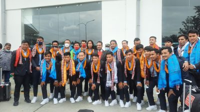 National football team returns home with first-runner up trophy